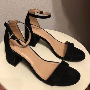 A New Day black suede sandals